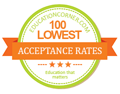 top 100 college with lowest acceptance rates